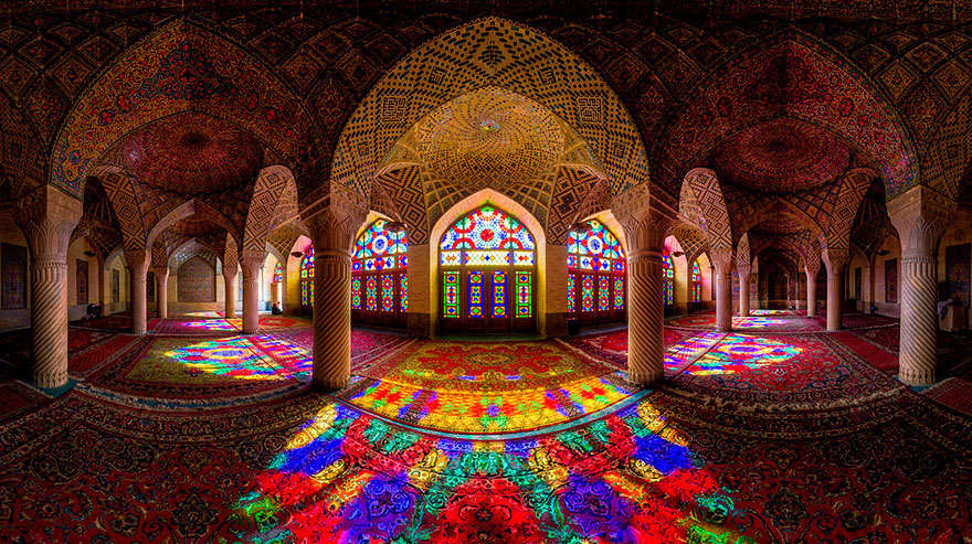 Mesmerizing Mosque Ceilings The Artistation - The mesmerising architecture of iranian mosques