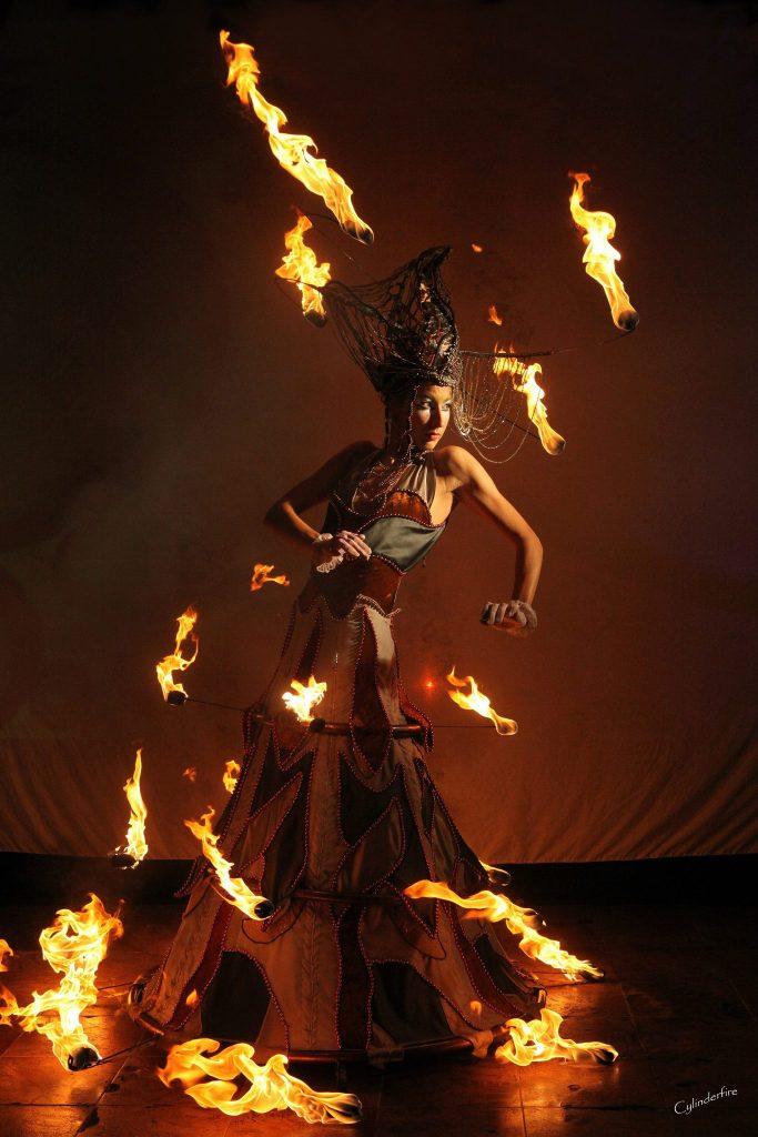 Linda Farkas Fire Costume